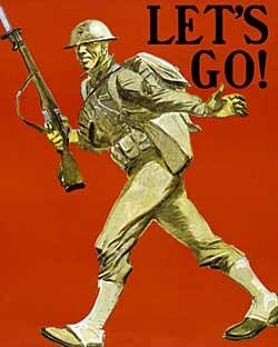 Let's Go - Great War Poster