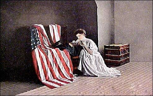 American postcard, prayer