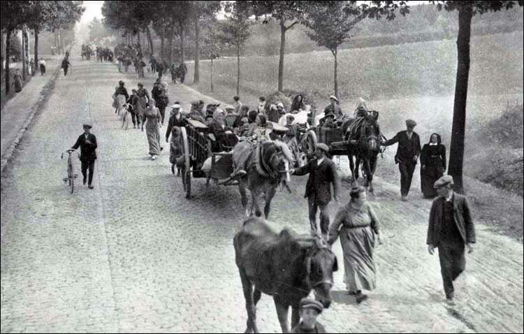Belgians flee