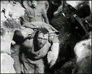 Scene from movie showing the first day at the Somme