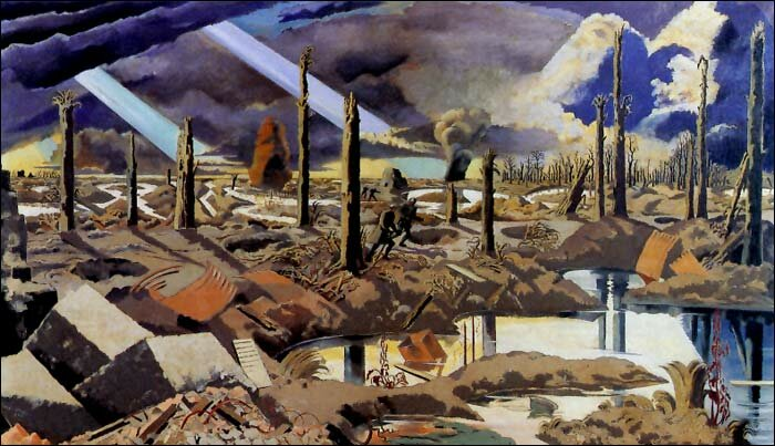 Menin Road, painting by Paul Nash, 1919