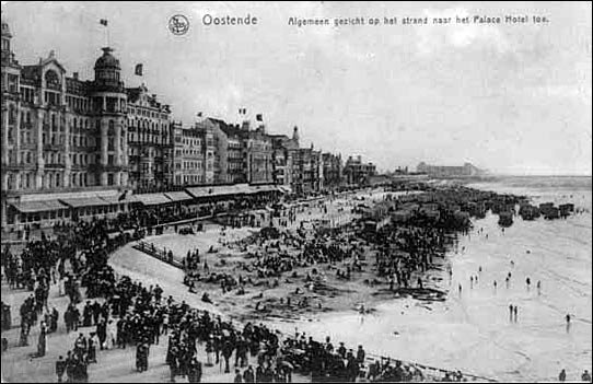 Belgian holiday resort Oostende 1910