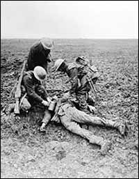 Dead or alive? Picture taken at Vimy Ridge, April 1917