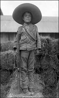 Mexican boy soldier