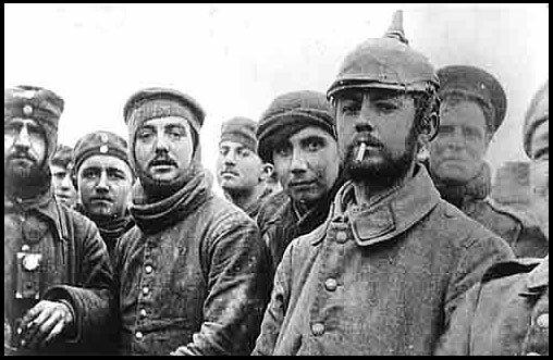 Duitse soldaten tussen Britten, Kerstmis 1914